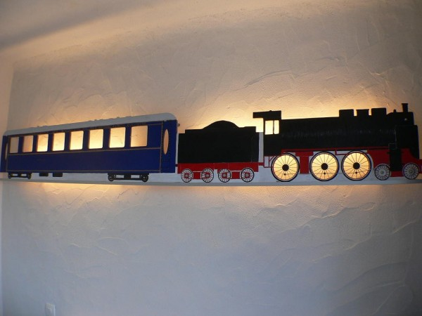 décoration chambre train